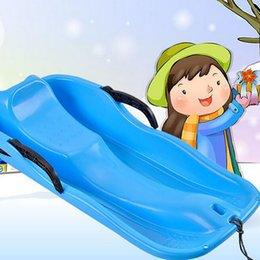 Золотые Руки снег Pad 85 * 40 * 15см Санки для детей игрушки Спорт Сани Сноуборд снегоходе Лыжи Санки С Handbrake Трава Катание на лыжах Катание на лыжах Песок