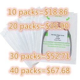 Dental Acier inoxydable Rectangular Arch Wires Produits 10 Packs Orthodontie Ovoid Form 100 pcs 10 pcs / pack