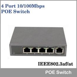 4 Port 10 / 100Mbps 802.3af / à POE Switch / Injector Sortie de 30W pour caméra IP Commutateur réseau VoIP Téléphone Appareils AP via DHL / UPS / Fedex