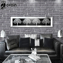 Discount texture brick wallpaper 2017 living room brick for Grey brick wallpaper living room