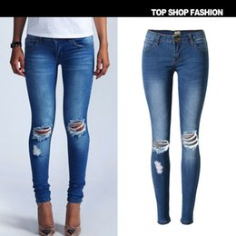 Discount Super Ripped Jeans | 2017 Super Skinny Ripped Jeans on ...