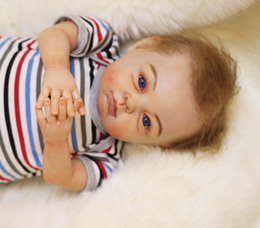 Wholesale High quality real doll reborn baby quot silicone newborn baby soft touch girl boy brand dolls bebe gift reborn