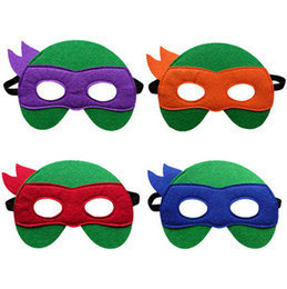 Wholesale Teenage Mutant Ninja Turtles Colors kids Mask Ninja Turtles