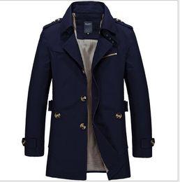 Discount Casual Long Coats Men   2017 Men S Casual Long Coats on