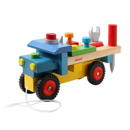 car model building kits with hammer super luxury give baby kids toy a good gift with beautiful package1kg wooden