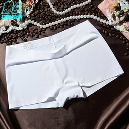Discount underwear sell 2017 Cheap Hot Sell New High Quality Girls Sports Women's Boxers Shorts Fashion Sexy Brands Piece Miss Seamless Ice Silk Underwear Pants