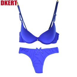 Wholesale French romantic brand push up bra set fashion thong bra and panty set Seamless sexy ABC cup bra brief sets