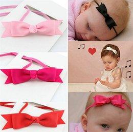 Wholesale Bandeau Ribbon Bow Hair Band Accessoires Photo Top Vendeur Baby Girl Infant Enfants Tissu Mixte Couleur IF6 Livraison gratuite