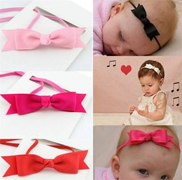 Top Seller Baby Girl Infant Children's Headband Bow Ribbon Hair Band Photo Accessories 10pcs Lot Cloth Mixed Color IF6-01 Free Shipping cheap baby hair band photos from baby hair band photos suppliers