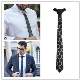 GEOMETIE Marca Hexagonal Forma Men Moda Gravata Puramente Handmade