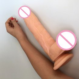 Wholesale 11 inch cm Big Realistic Dildo Super Thick Huge Big Dildo Sturdy Suction Cup Penis Dick Dong for Women Sex Toy sex product