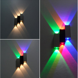 New 6W Up and down led wall light Aluminum Modern led indoor lighting  decoration art style creative light discount led light up wall art