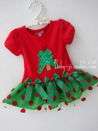 2017 cotton gauze patterns Foreign trade explosion models girls Christmas tree pattern cotton gauze princess dress girl skirt discount cotton gauze patterns