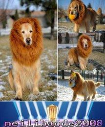 2017 NUEVA ropa grande del animal doméstico de Halloween de los perros encantadora La fantasía del gato se viste para arriba peluca de la melena del león MYY