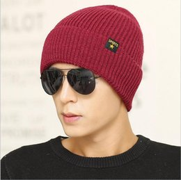 2017 wholesale knitted cashmere hat 2016 New Wool Hat Autumn and Winter Plus Cashmere Warm Men 's Outdoor knitted hats Wholesale wholesale knitted cashmere hat deals