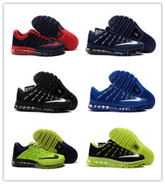 Discount Shoes Run Air Max Wholesale New Style 2016 Max Running Shoes For Men maxes sneaker High Quality Air Cushion Surface Breathable KPU Max Shoes Eur 40-47