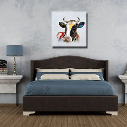 Discount cow canvas art 2016 cow canvas art on sale at for Cow bedroom ideas
