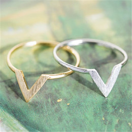 discount v letter rings 10 pc v type the letters ring 18 k gold