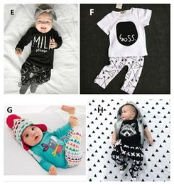 Wholesale INS Baby Outfits Sets Cotton Piece Set Boys Girls Baby Clothing Suits Clothes