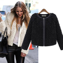 Cheap Short Black Coat Fur Collar | Free Shipping Short Black Coat