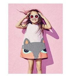 Wholesale korean children clothing girls dresses Cartoon fox Long Sleeve Princess Dress Spring Kids Party Dresses Fashion Clothes