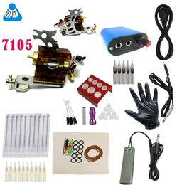 Wholesale Cheap beginner Complete Tattoo Kit Custom Rotary Tattoo Machine Gun Black Ink Power Pedal Needles Grip