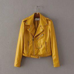 Ladies Brown Leather Jacket Online | Ladies Short Brown Leather ...