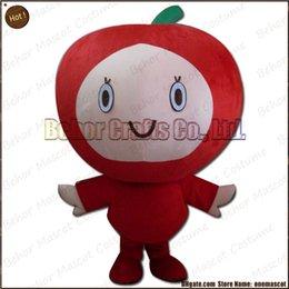 Wholesale Le costume de mascotte de personnes d Apple l expédition libre l adulte de bande dessinée de mascotte de personnes d Apple de peluche de haute qualité bon marché acceptent l ordre d OEM