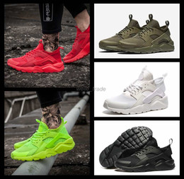 online shopping 2016 Newest air Huarache IV Running Shoes For Men Women Black White High Quality Sneakers Triple Huaraches Jogging Sports Shoes Eur36