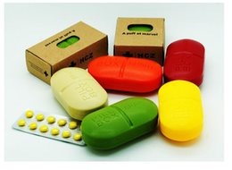 1000шт Симпатичные Мини-6 Щели Pill Box Пластиковые хранения Дело Shell Портативный Pill чехол Свободный DHL
