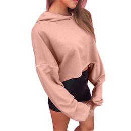 Wholesale DHL free ship Women Short Hoodie Sweatshirt blouses Jumper Crop tops Fashion Autumn Loose Long Sleeve Blouses Pullover Tops Tee Shirts top