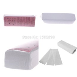Wholesale 100PCS per Pack Hair Removal Depilatory Wax Strip Nonwoven Epilator Paper Waxing Salon Spa paper card