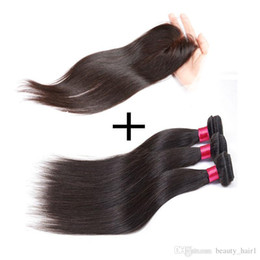 2017 ombre weaves closure 7a 3,3,4,5,5pcs Peruvian Straight Virgin Hair with Closure Straight Lace Closure with Bundles Queen Hair Products with Closure Bundle ombre weaves closure for sale
