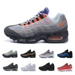 2016 Shoes Run Air Max Max 95 Men's Running Shoes Air Sneaker Low Basketball Casual Retro OG Black White Size US7-12 Free Shipping