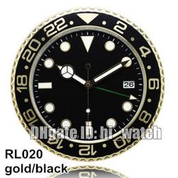 Supler Clone Luxury Brand Design Cheap Wall Decoration Yellow Gold Rose Gold Metal Wall Watch Clock Wallclock Type Branded Horloge Murale