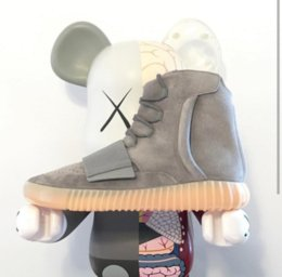 Wholesale With Box Adidas Originals Yeezy Boost Light Grey Running Shoes Men Women Kanye West Yeezys BB1840 Boots Cheap Casual Shoes Size