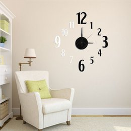 Beautiful Design 3d Diy Modern Eva Black White Square Hours Clock Wall Sticker Home Decor Decal Lowest Price
