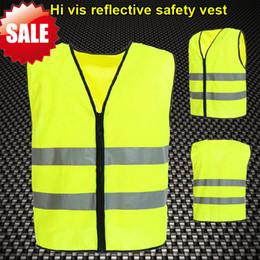 Wholesale EN471 High visibility clothing safety hi vis vest flourescent yellow reflective safety vest