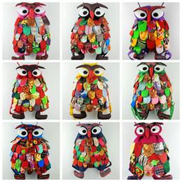 40PCS coloridas del estilo étnico búho niños muchachas de los cabritos del paquete escuela de moda Bolsas características chinas Nueva JJA31