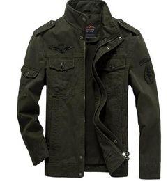 Discount Khaki Denim Jacket Men   2017 Khaki Denim Jacket Men on