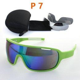 Discount woman uv sunglasses New Brand PO Polarized Cycling Glasses 4 Lens Men Women Outdoor Sport Goggles Sunglasses Eyewear UV 400 gafas de sol Gafas ciclismo