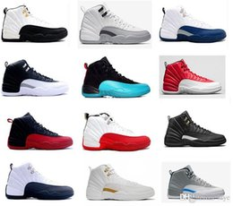online shopping 2016 air retro XII basketball shoes men ovo white wool discount shoe Gym red French Blue wolf grey Flu Game Blue Suede mens sneakers