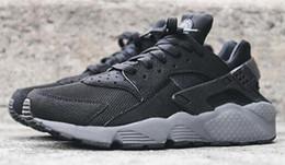 online shopping High Quality air Huarache Run Black Dark Grey Wolf Cool Grey Men And Women Running Sport Sneakers Shoes