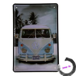 Discount Shabby Chic Home Decor Wholesale Shabby Chic Signs Snowfield Kombi Van Classic Tin Sign Metal