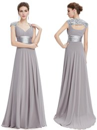 Wholesale 12 Color Mother of the Bride Dresses Ever Pretty mother and daughter dress V Neck Sequins Chiffon Mother of the Groom Dresses