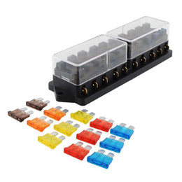 fuse box terminals online fuse box terminals for whole 10 port way 13 fuses set car automobile automotive ato atc apr fuse block output box holder terminal w