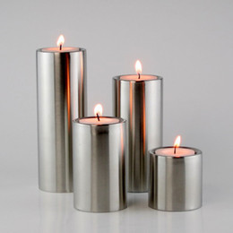 2017 Religious Home Decor Wholesale Set Of 4pcs Stainless Steel Candle Holders Home Decoration Candle Stand