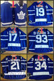 920b4d23f leafs 2016 Draft  34 Matthews 19 Lupul 93 Gilmour 21 van RIEMSDYK 17 Clark  White Blue winter classic Hockey Jerseys Stitched Mix Order ...