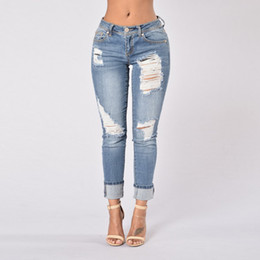 Discount Light Blue Ripped Jeans Womens | 2017 Light Blue Ripped ...