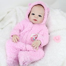 Wholesale 22Inch Full Silicone Reborn Baby Girl Lifelike Interactive Full Body Silicone Reborn Doll Girls Toys Birthday Gift For Children